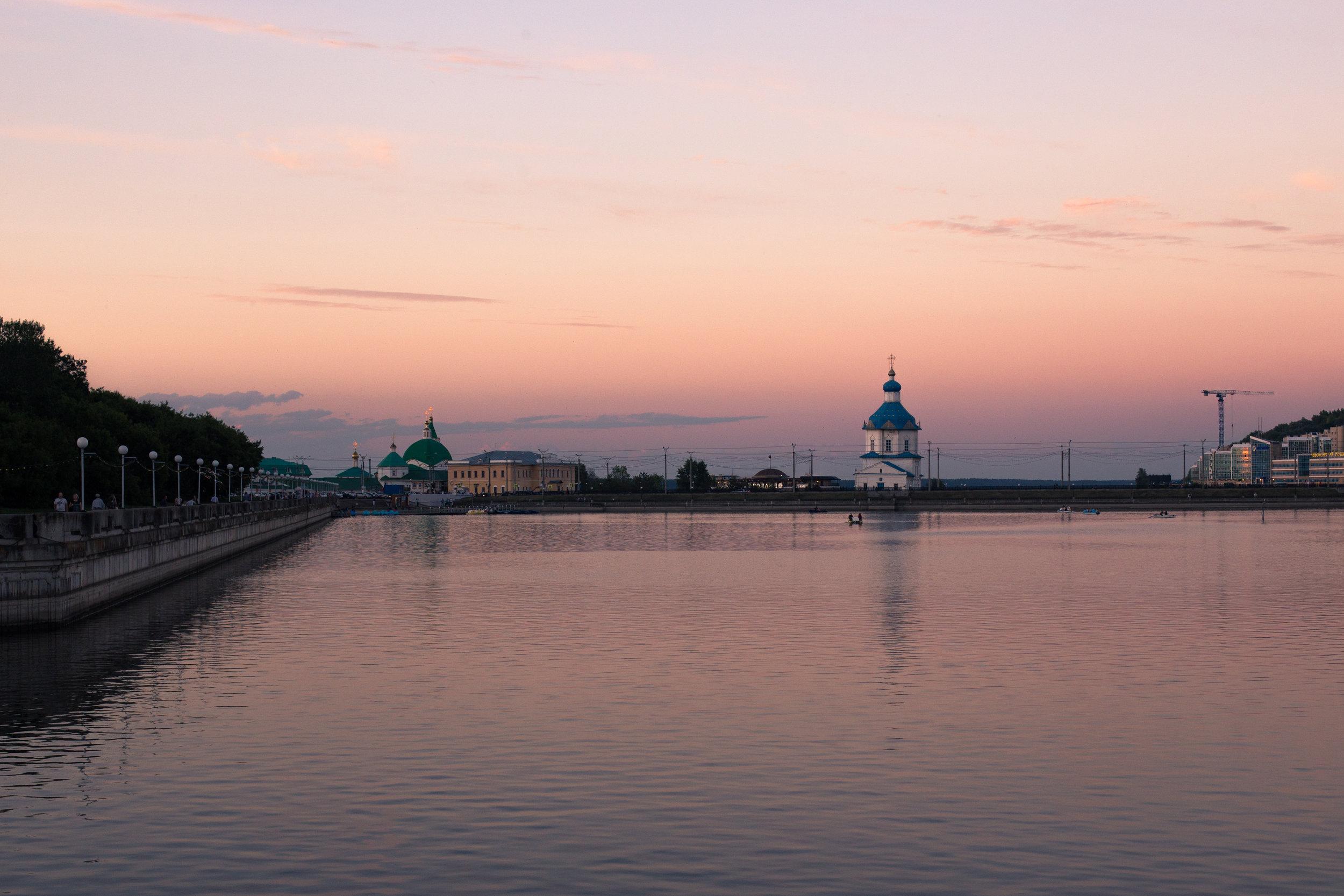 The downtown Bay (Zaliv) of my hometown, Cheboksary.