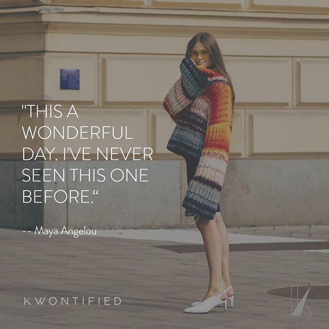 Cherish every day. . . . 📷: @vogue #kwontified #fashion #style #fashionweek #instagood #stockholmfashionweek #outfitoftheday #stockholm #ootd #streetstyle #streetfashion #instafashion #fashiongram #fashionblog #fashionstyle #fashionista #fashionblogger #highfashion #styleblogger #styleinspo #stylelookbook #fashionlookbook #motivation #motivationalquote #success #inspiration #inspirationalquote #quoteoftheday #vogue #hardwork