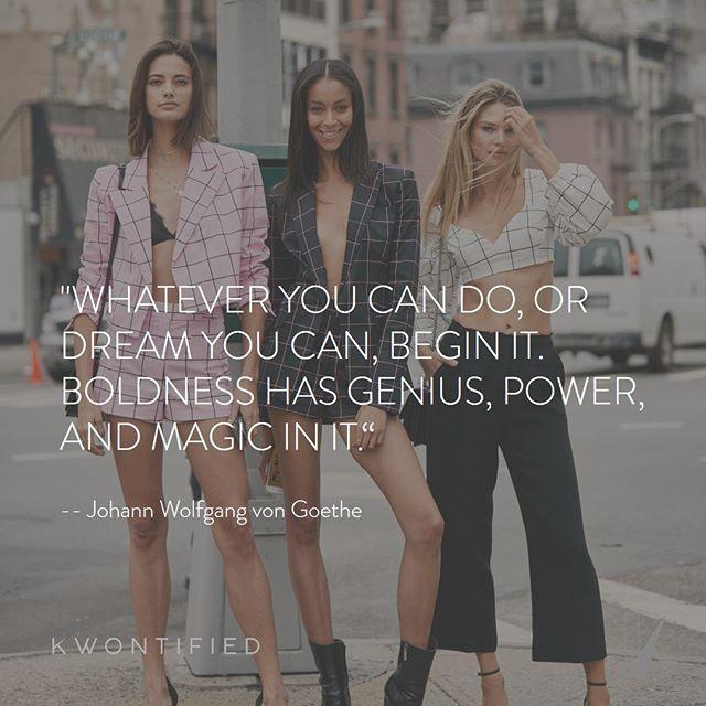 Be BOLD 🌟 . . . 📷: @thestylestalkercom #kwontified #fashion #style #fashionweek #instagood #newyorkfashionweek #outfitoftheday #streetlook #ootd #streetstyle #streetfashion #instafashion #fashiongram #fashionblog #fashionstyle #fashionista #fashionblogger #highfashion #styleblogger #styleinspo #stylelookbook #fashionlookbook #motivation #motivationalquote #success #inspiration #inspirationalquote #quoteoftheday #thestylestalkercom #stylestalker