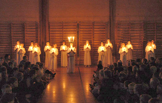 Celebration of St. Lucy's Day in Denmark