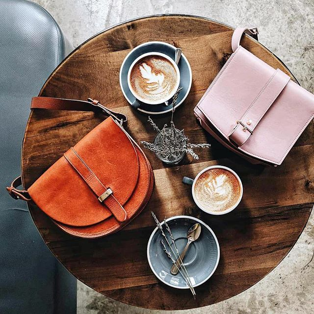 Perfect day for some coffee and @haerfest handbags. 📷 @heydavina