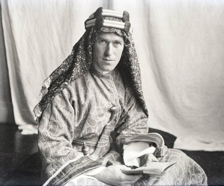 A photo of T. E. Lawrence