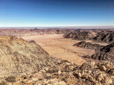 Wadi Rum Nature Tours - View from Jabal Um ad Dami