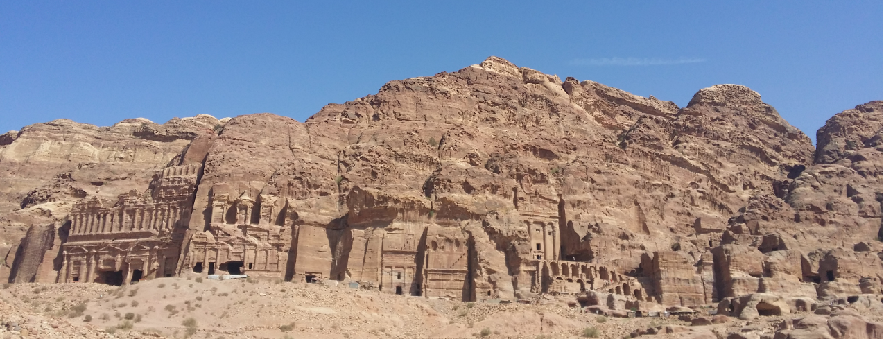The Royal Tombs at Petra. Photo taken by Mithun Bhandary,  @drmik666 on Instagram .