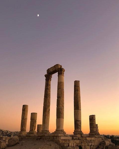 Temple of Hercules, Amman Citadel. Photo taken by Adnan Ahmed,  @adnanahmed9 on Instagram .