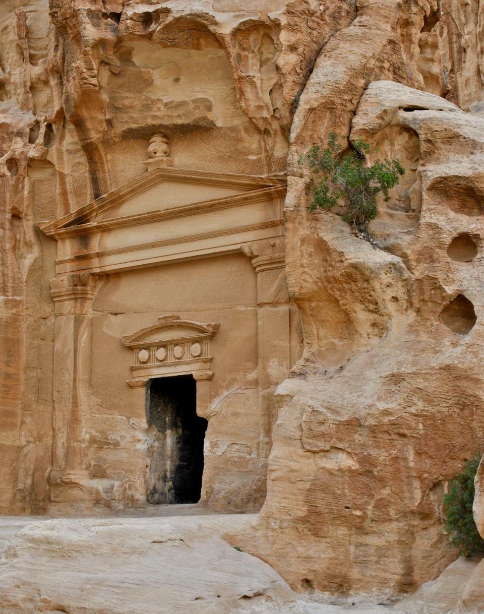 An ancient entrance at Little Petra. Photo taken by Dr. Lucille Chauveau,  @elle.sait on Instagram .