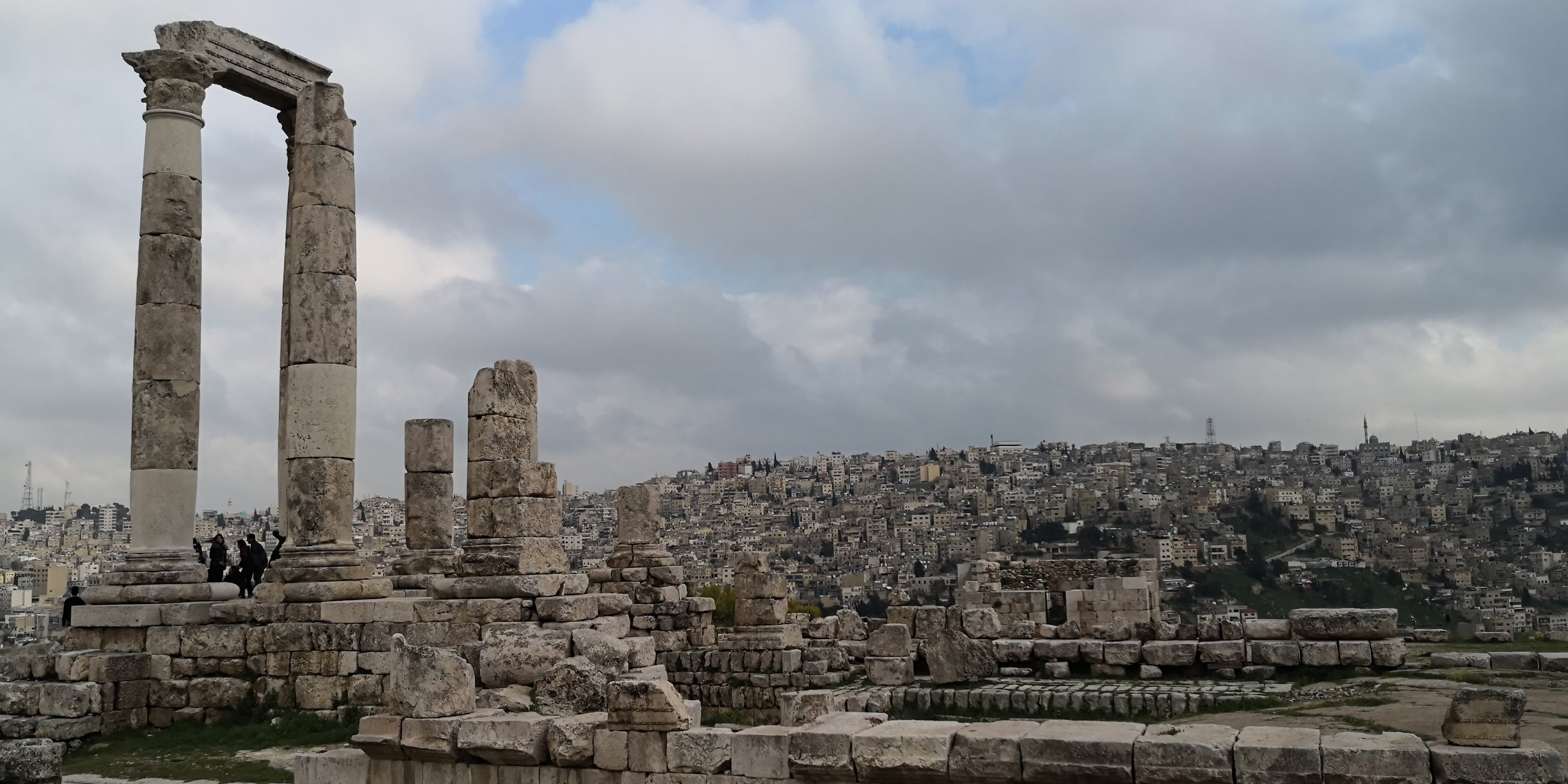 The Amman Citadel.  Photo taken by Davric, distributed under under  CC BY-SA 4.0  license.