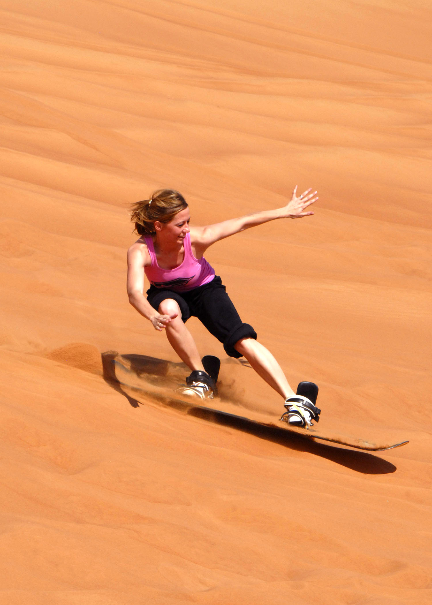 Slide down some of the steepest dunes in Wadi Rum on a sand board. You can try sand boarding during our  Wadi Rum Jeep Tour .