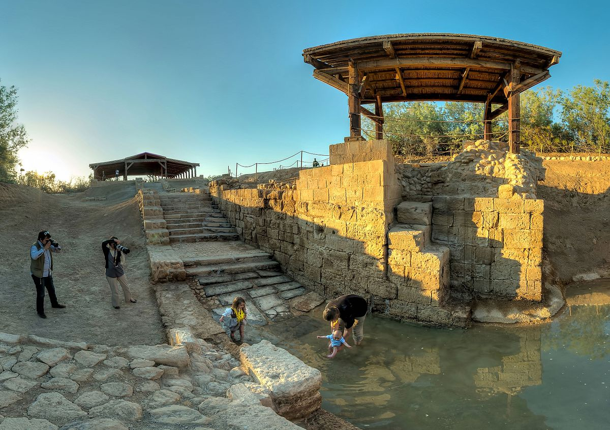 The baptismal site of Jesus Christ. Photo taken by Faraheed, distributed under  CC BY-SA 4.0  license.
