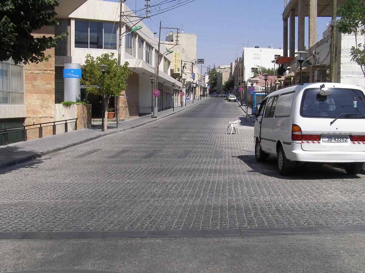 Rainbow Street in Amman on a quiet morning.