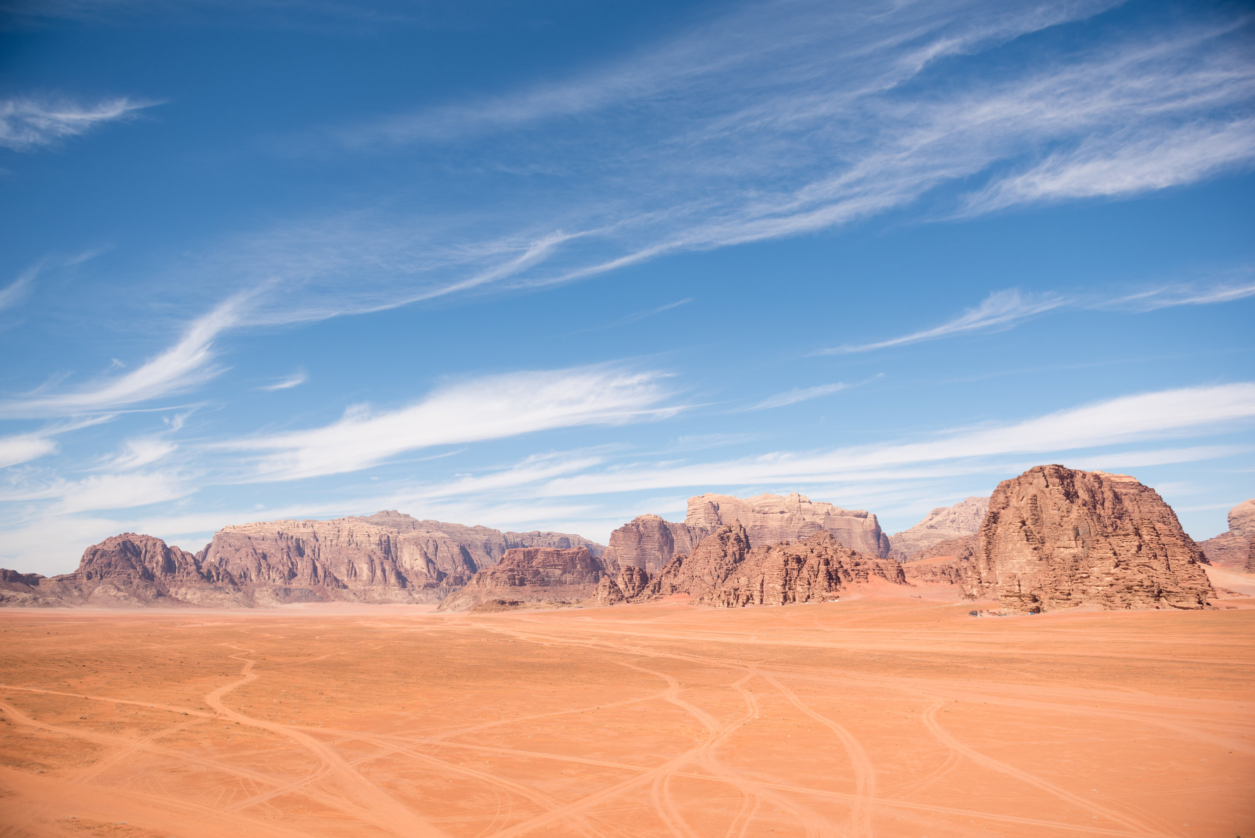 One of Wadi Rum's many beautiful landscapes. Photo taken by one of our guests, Simon Walser,  @walser.simon  on Instagram.
