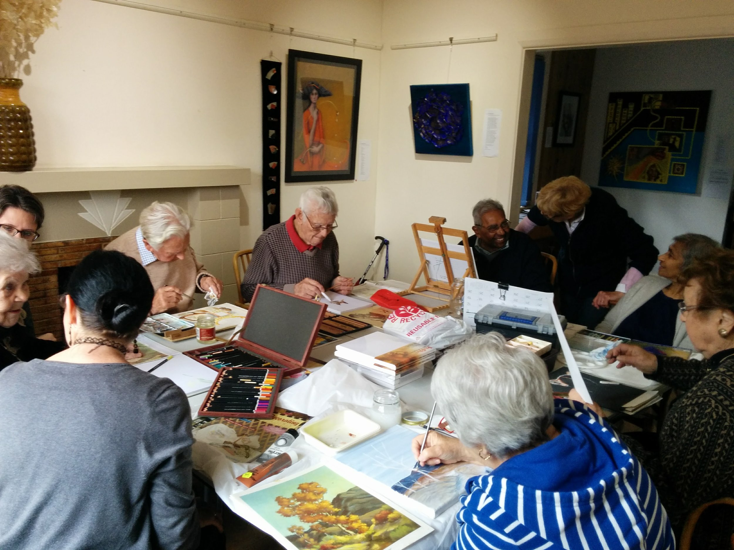 ACH art sessions - Every Wednesday10.00am - 12.00pmand12.30pm - 2.30pmsee below for contact details