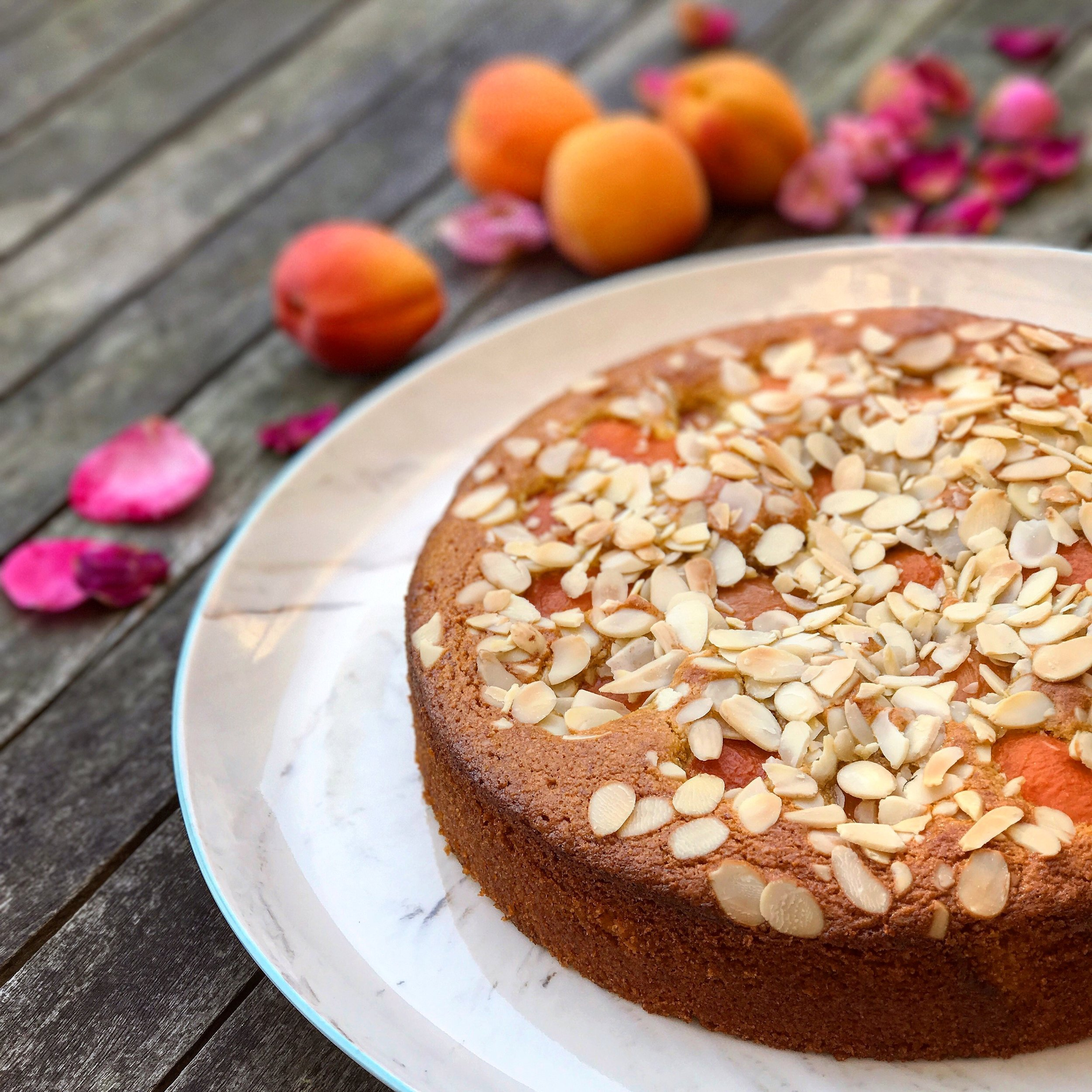 Apricot, almond & rose water cake (GF, DF)