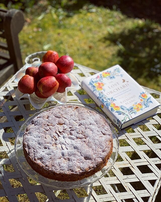 Afternoon tea time ??  Apple cake made with crisp Braeburn apples, inspired by @raymondblanc's new book The Lost Orchard ????