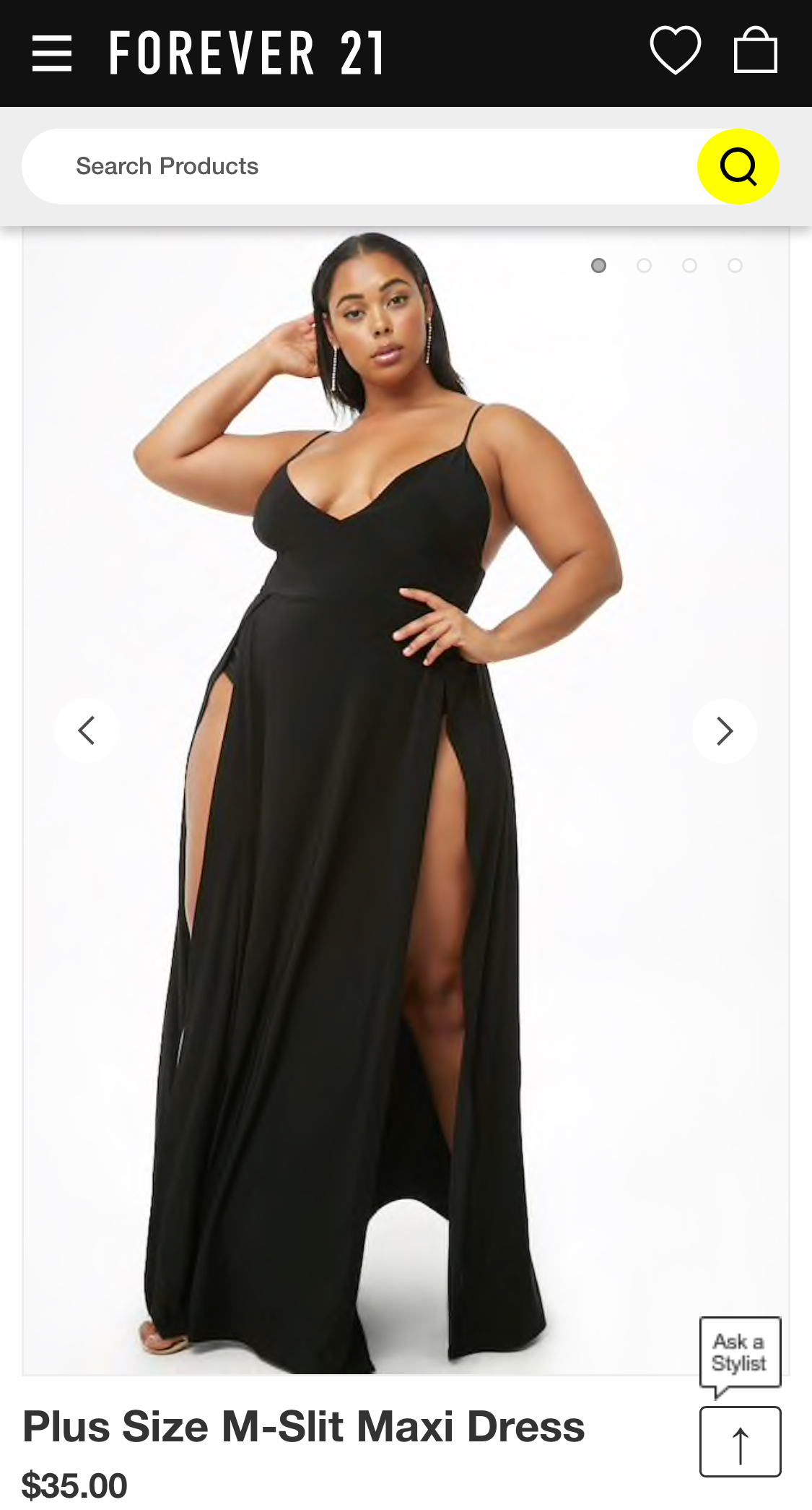 Plus Size M-Slit Maxi Dress