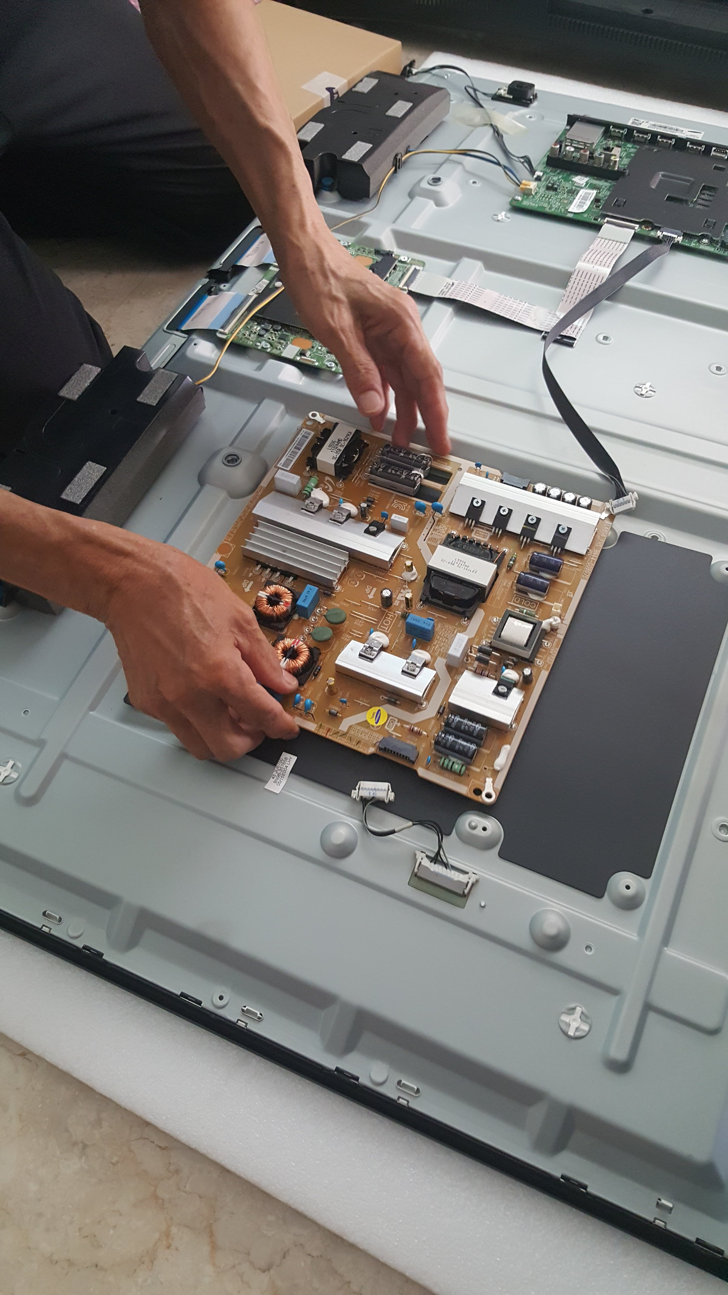 - An identical motherboard which the technician had brought along was swiftly replaced.