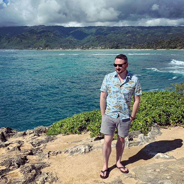 Serving ocean beach surfer realness at Laie Point #aloha #vacation #hawaii