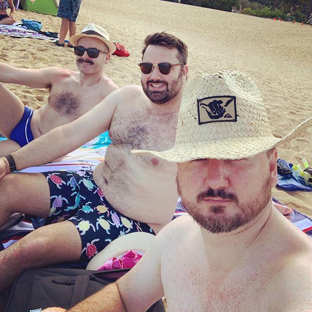 Werkin the beach and my new cowboy look #beach #waimea #aloha #hawaii #vacation