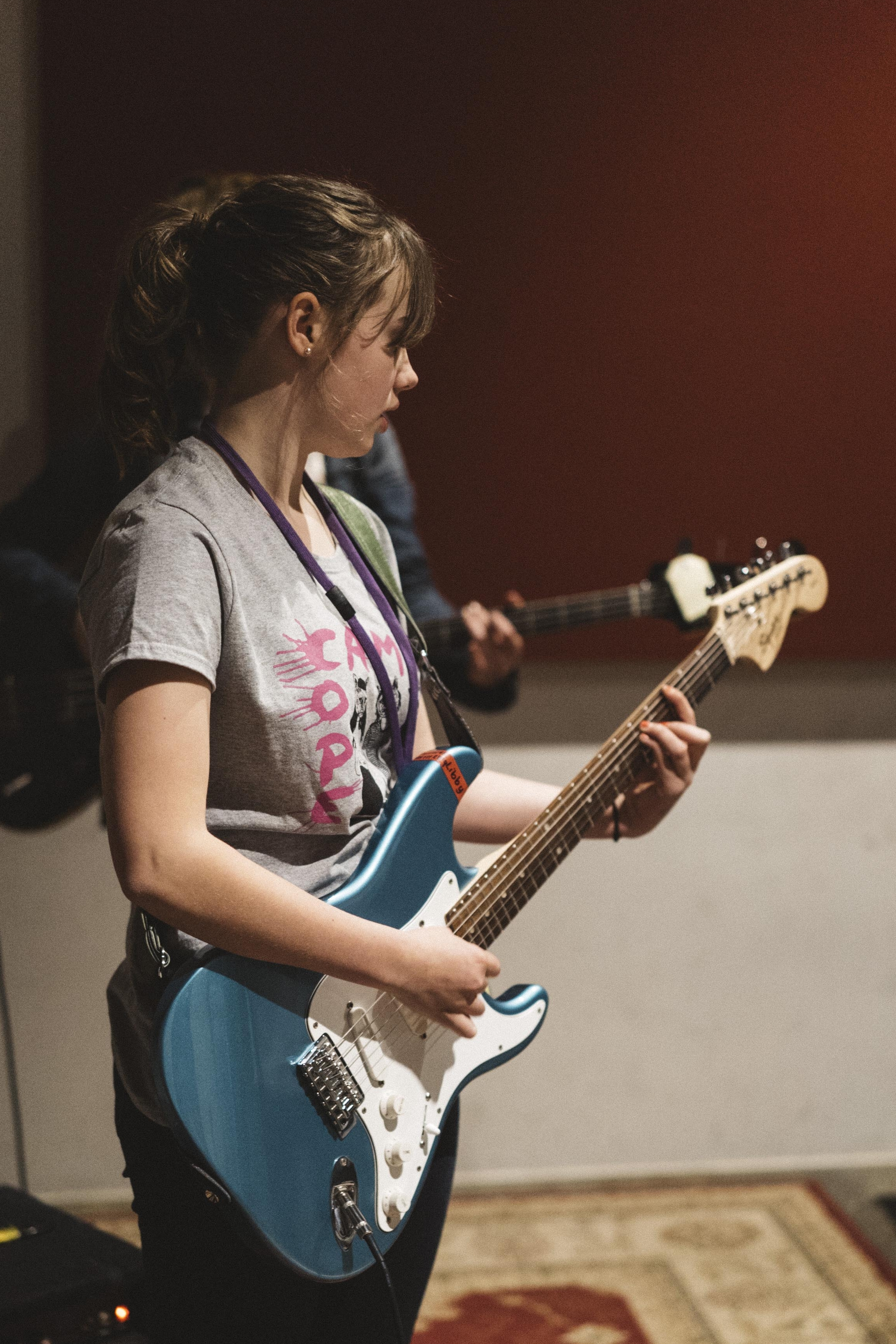 Our mission - Amplifying the voices of female, trans and gender diverse youth through music education and positive mentorship.