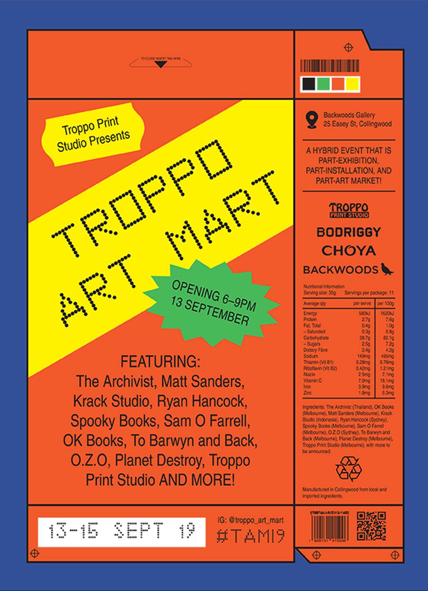 Troppo Art Mart - Opening Sept 13-15