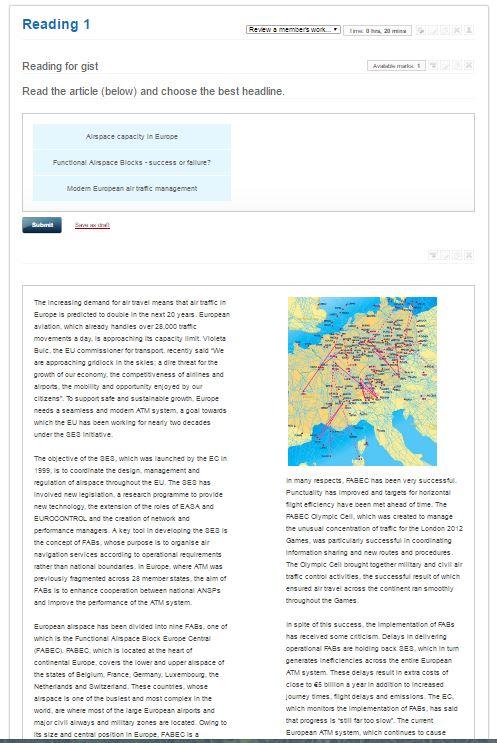 Aviation English e-learning example