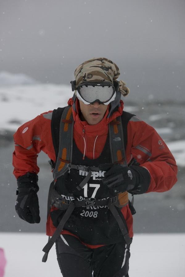 Dean fighting the mental battle in Antarctica