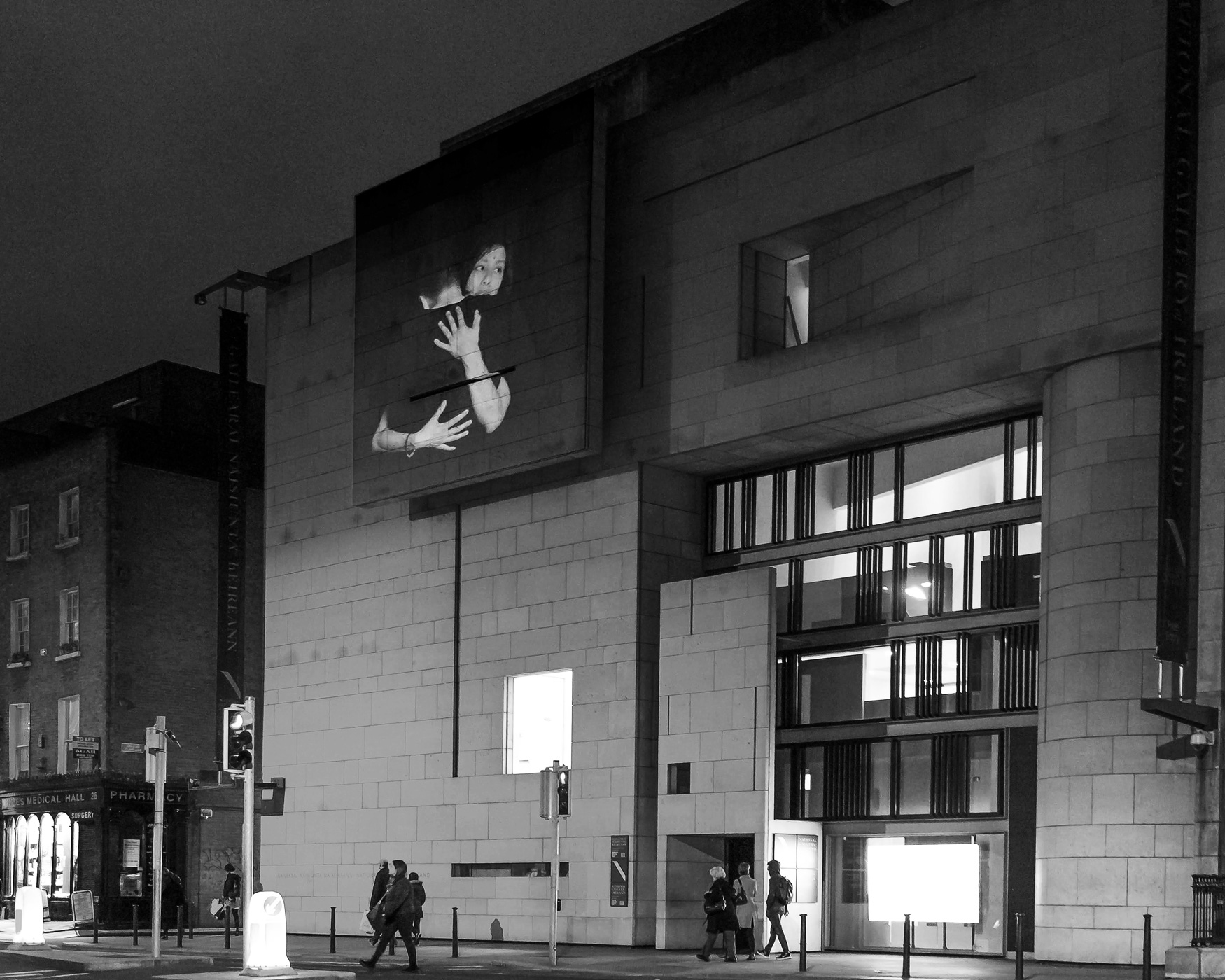Brace Yourself (duet composition #2), Dublin 2019  commissioned by  Stockholm konst  at Kulturhuset Stadsteatern, Stockholm + National Gallery of Ireland/Dublin   International Herstory Light festival