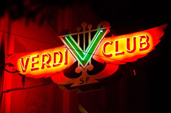 The Verdi Club  21+  Food and drink available for purchase