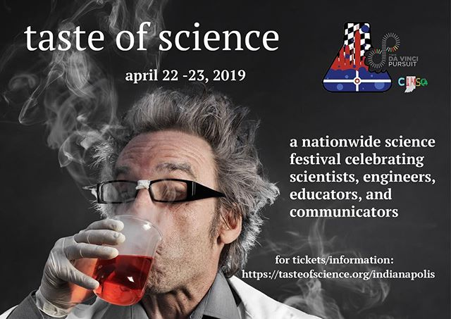 Save the date! #tasteofsci #scicomm #indysci