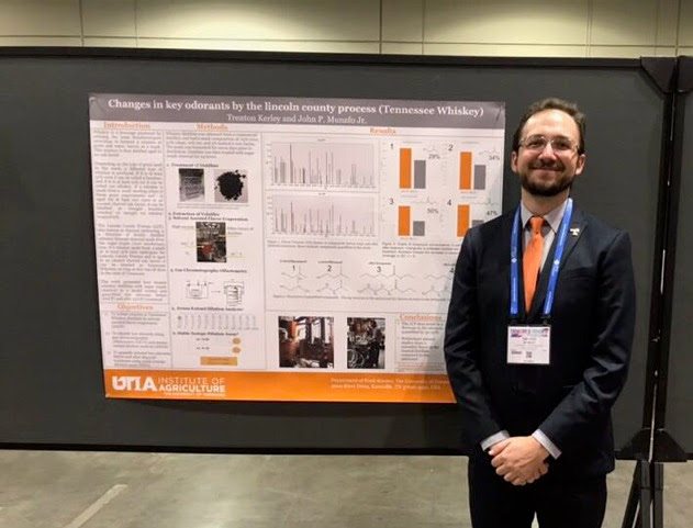 Trent Kerley - Graduate student in Food Science at the University of Tennessee. His research focus is the chemistry of whiskey aroma; his work on Tennessee whiskey was recently featured in Scientific American's 60 second science podcast. Other than whiskey, his favorite drink is a stout.
