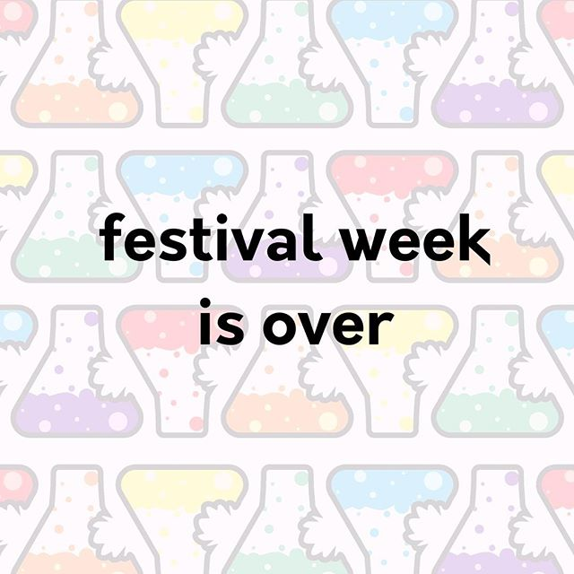 Another year, another festival. A happy celebration of #art, #poetry, #community, #diversity and naturally #SCIENCE!  We'll be taking a short break, but let us know your thoughts about what you liked, didn't like, and what we can do better!  #tasteofsci #scicomm #ScienceOutreach #sciFest
