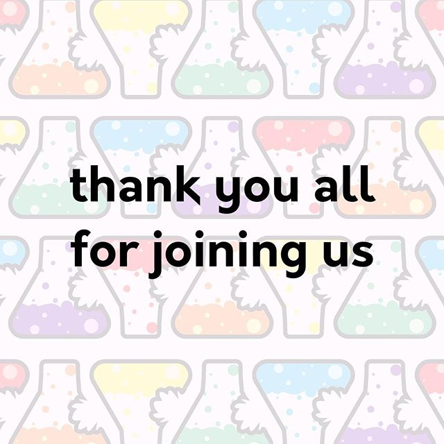 Thank you as always to our sponsors for helping fund our efforts. To our speakers for taking the time to share their work with the outside world. Thank you to the amazing volunteers who bring their all to organizing these events, and naturally, thank you, dear audience, for joining us!  #tasteofsci #scicomm #scifest