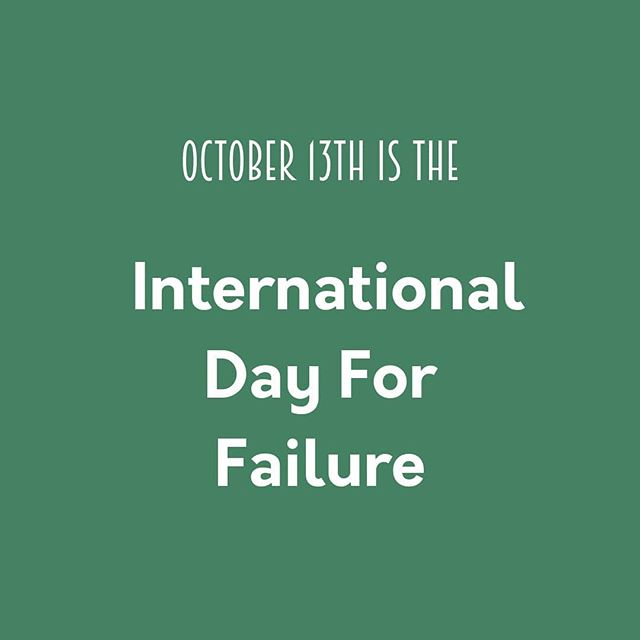 The International Day For Failure is an opportunity to realize that we all fail at some point, but that this is not something to be ashamed of. On the contrary, failure is a normal part of any learning process. We want to take this day to celebrate our failures in science and highlight how important they are to advancing our knowledge!  #SciFailFest #ScienceFailures #DayForFailure #tasteofsci #scicomm #science