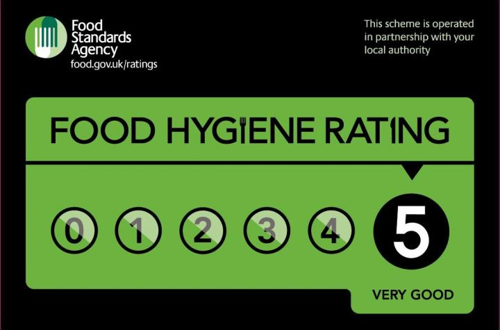 - We are a 5 Star Food & Hygiene Rated Business
