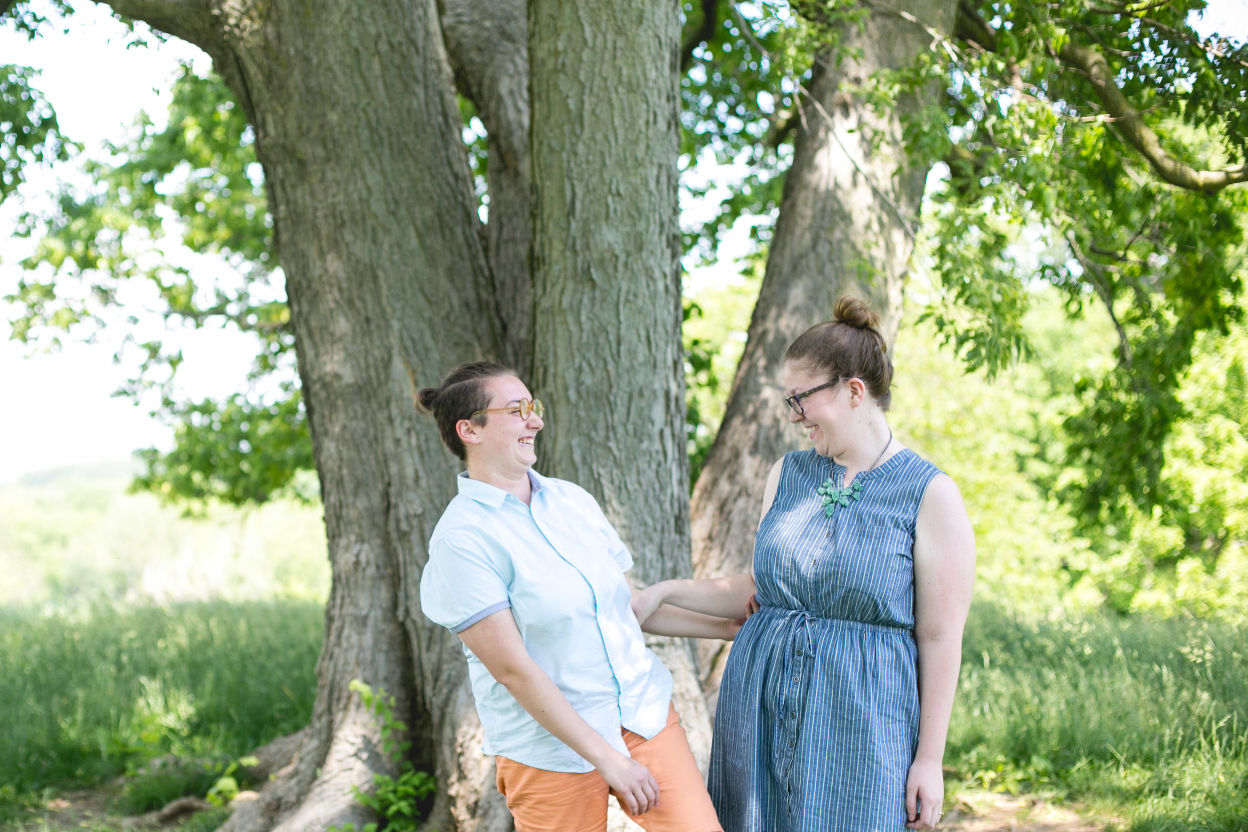 A spring Valley Forge State Park, King of Prussia Pa Queer Engagement session with Alex and Lee by Swiger Photography, Philadelphia's Lesbian Photographer