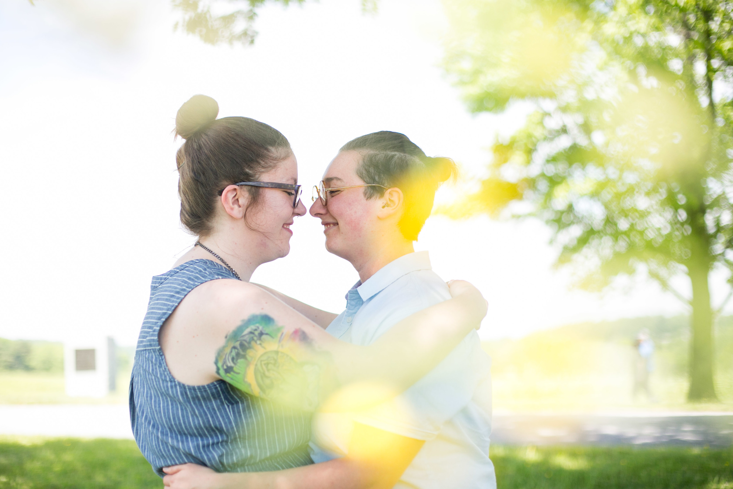 Lee and Alex Valley Forge State Park Queer Engagement Session