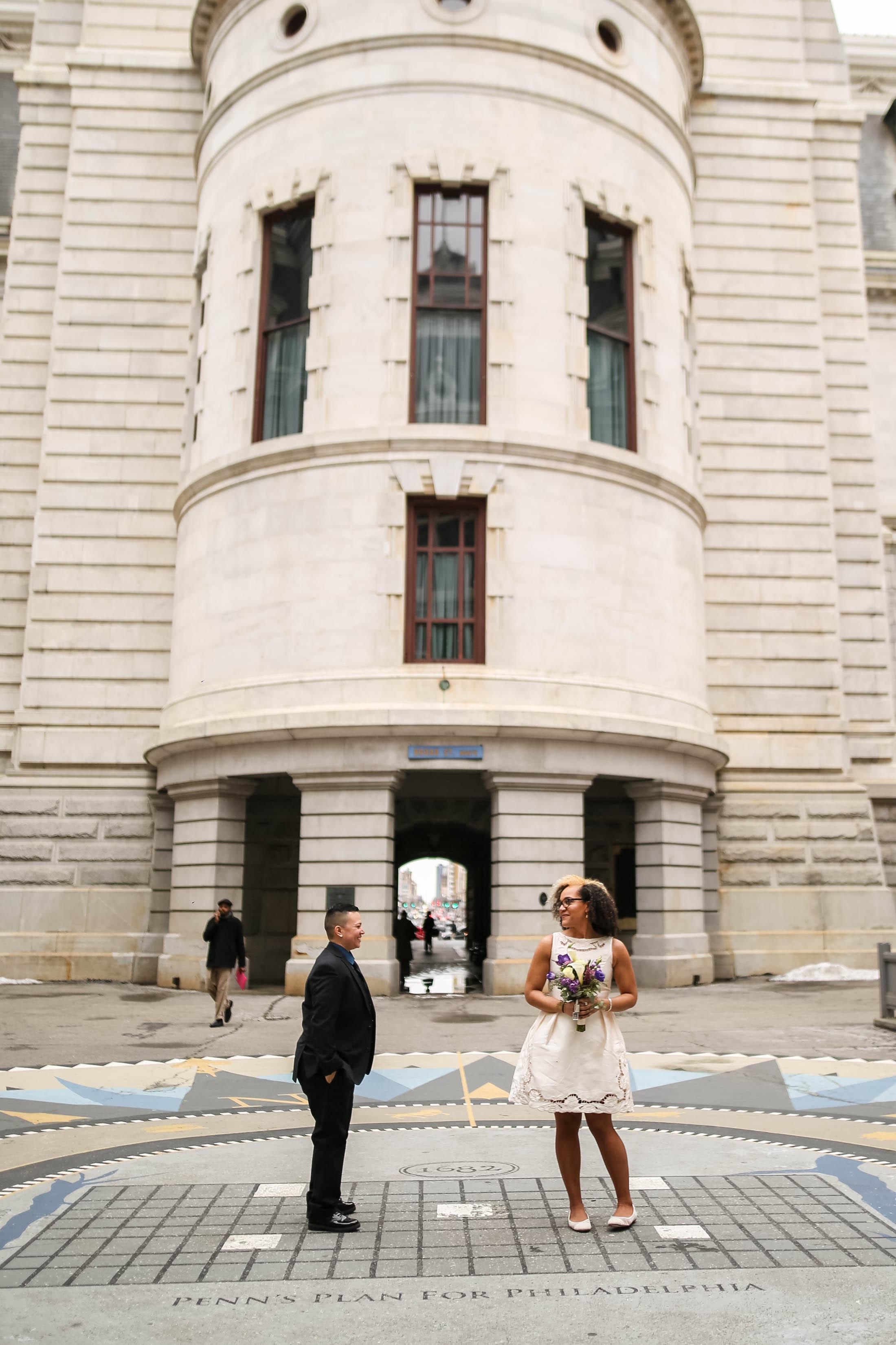 Philadelphia City Hall Lesbian First Look