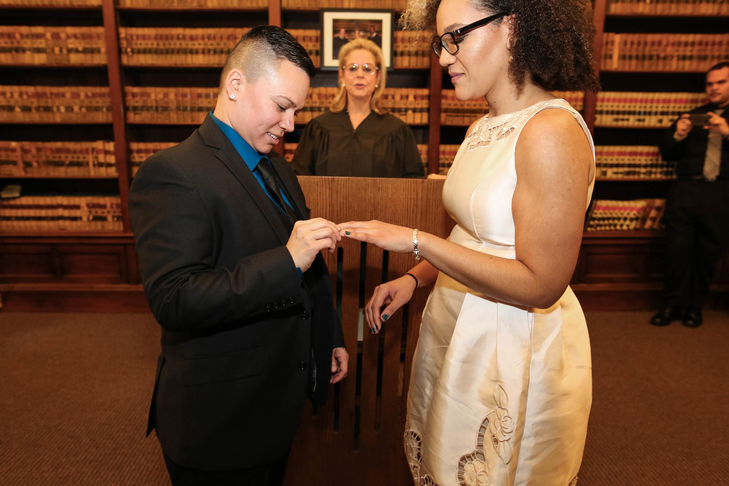 Philadelphia City Hall Lesbian Wedding