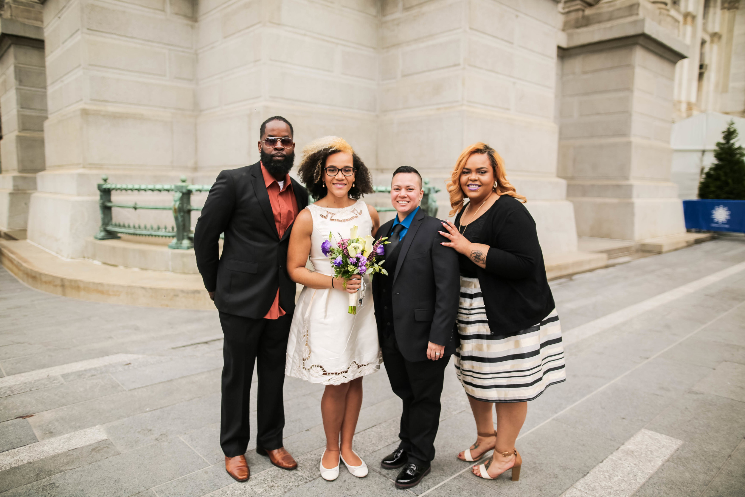 Sophia and Lisa - Philadelphia City Hall Lesbian Elopement by Swiger Photography, Philly's Lesbian Photographer