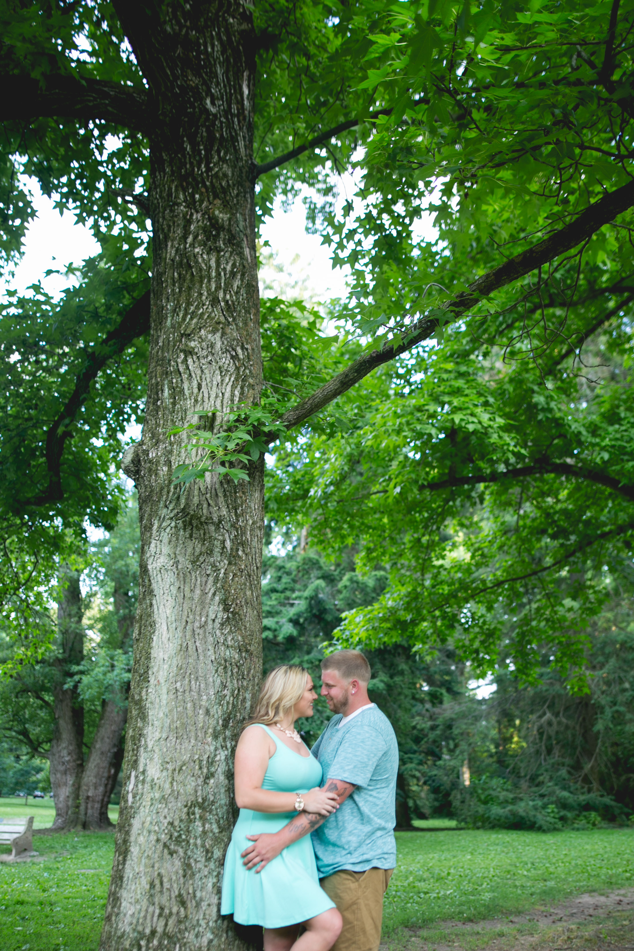 A Pastorius Park Philadelphia Engagement Session by Swiger Photography.  Engagement session with kids.