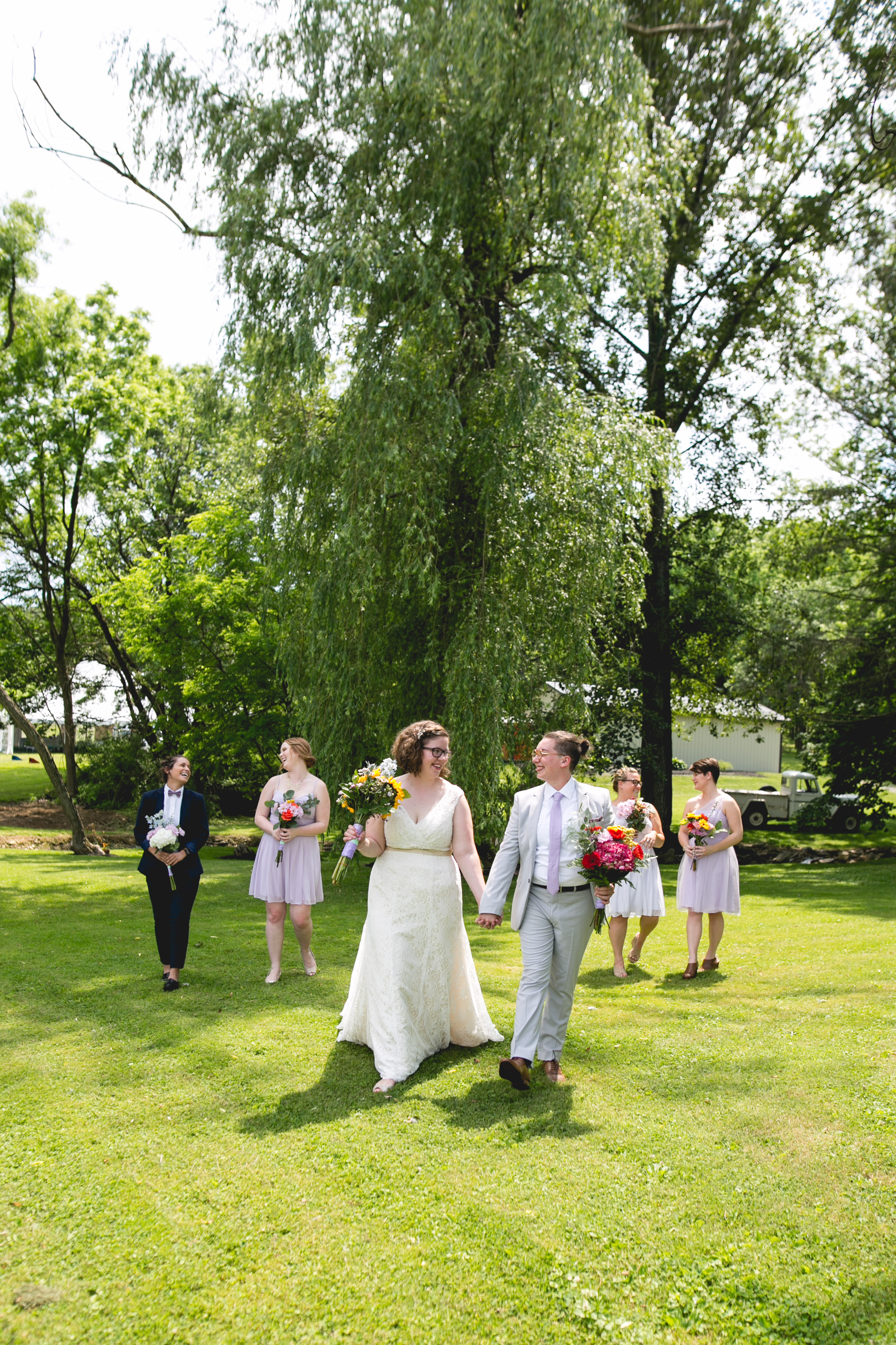 Alex and Lee - A Queer Walnutport PA Wedding, Philadelphia LGBTQ Wedding Photographer, Queer Bridal Party