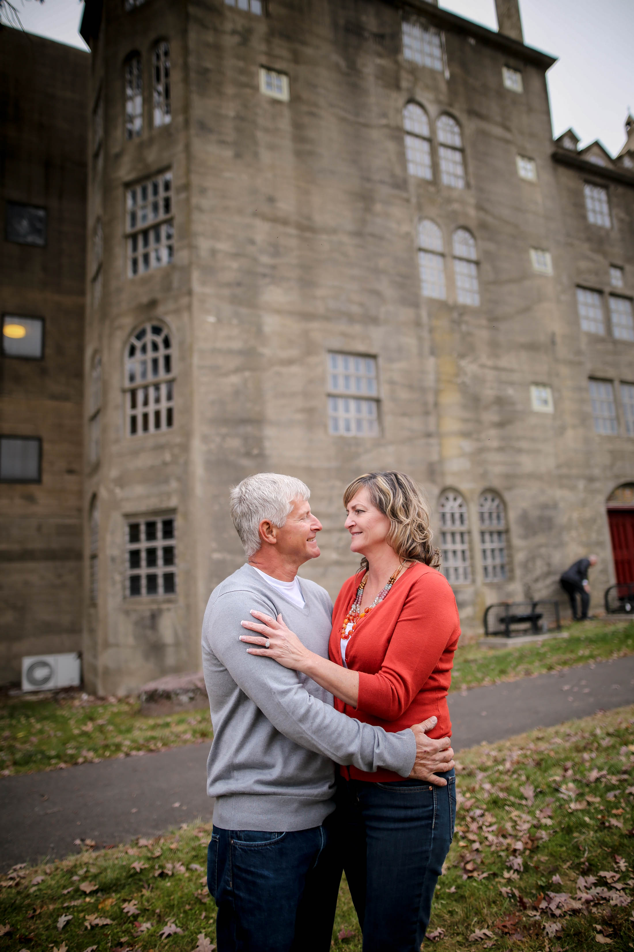 Cindy and Scott choose to do not only their engagement session but their wedding at one of their favorite places - Mercer Museum!