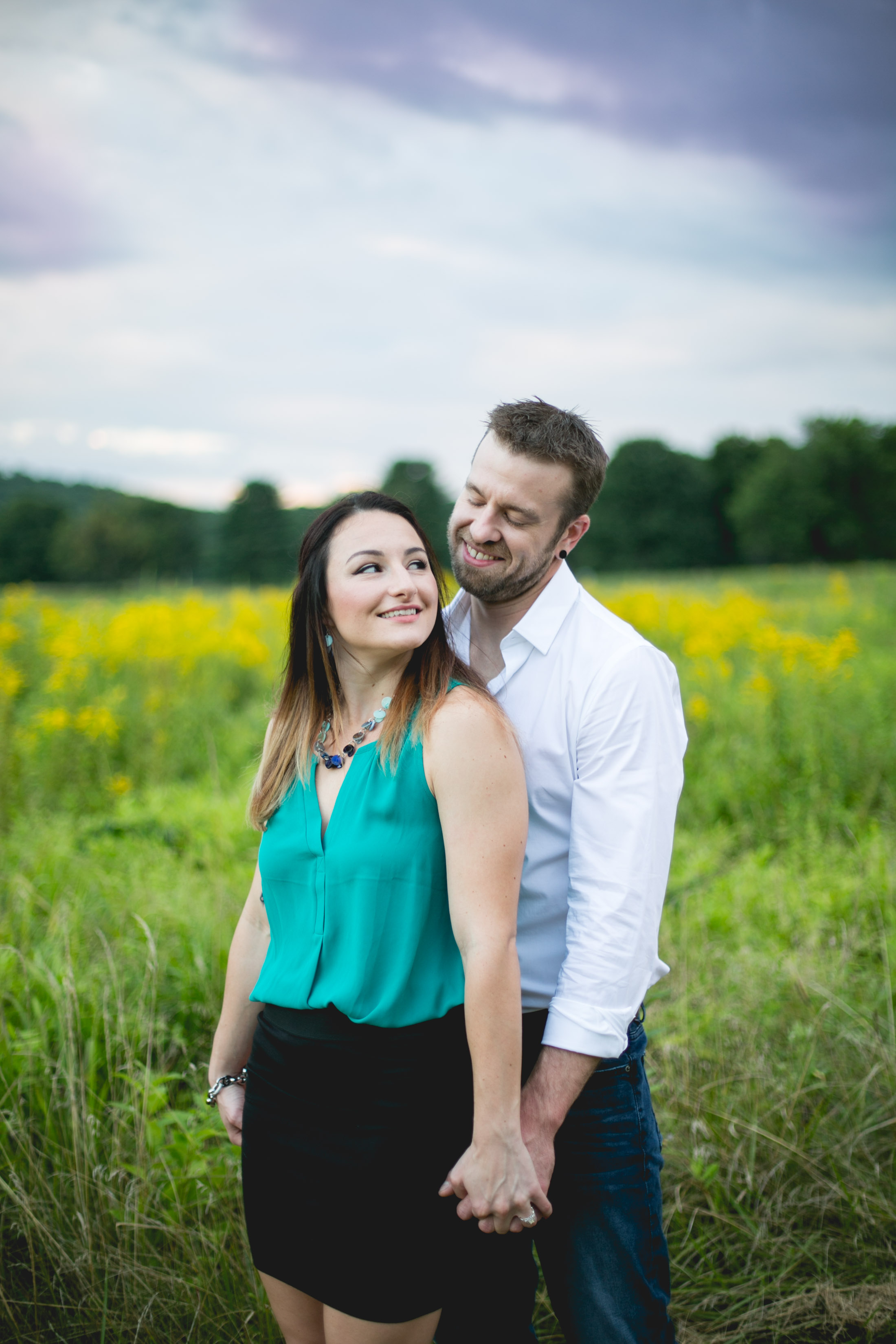 Brooke loved the look of fields, flowers and nature but didn't know where would work best for their engagement session!  I suggested my favorite park and it was exactly what they were looking for!