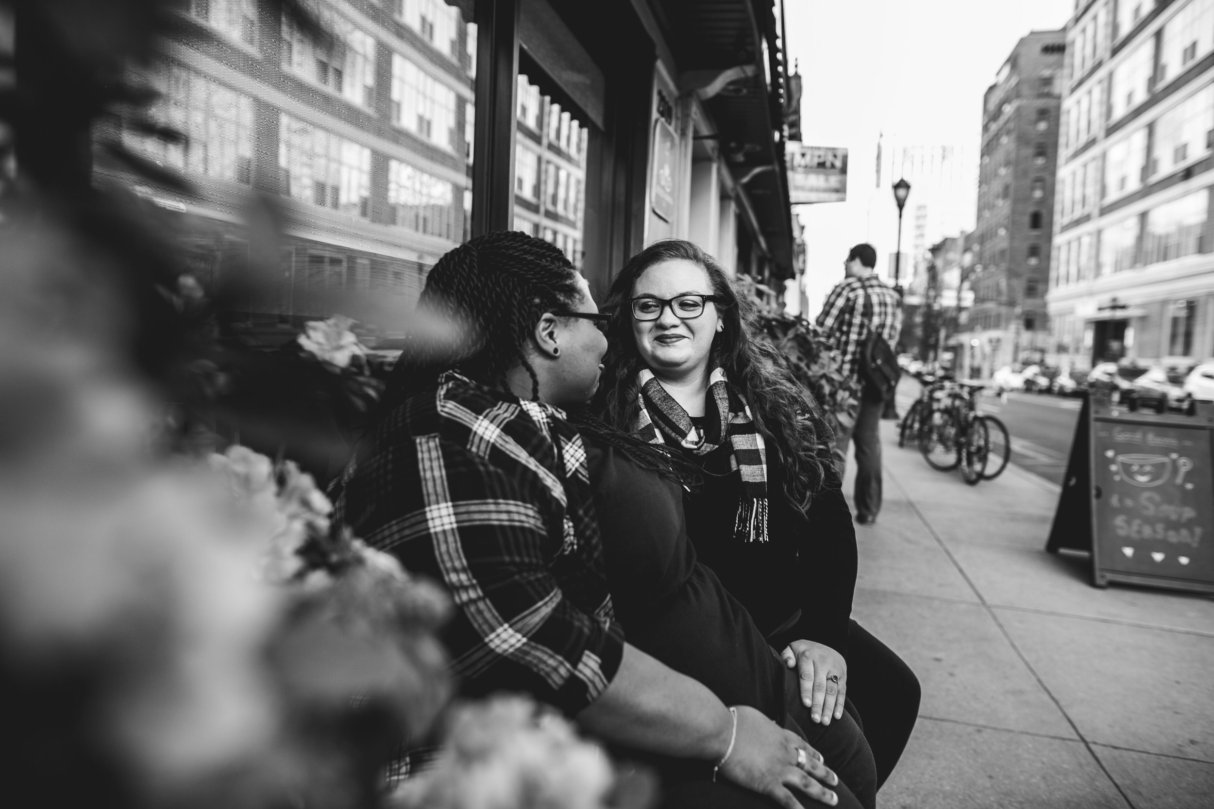 Philly Fall Lesbian Engagement Session