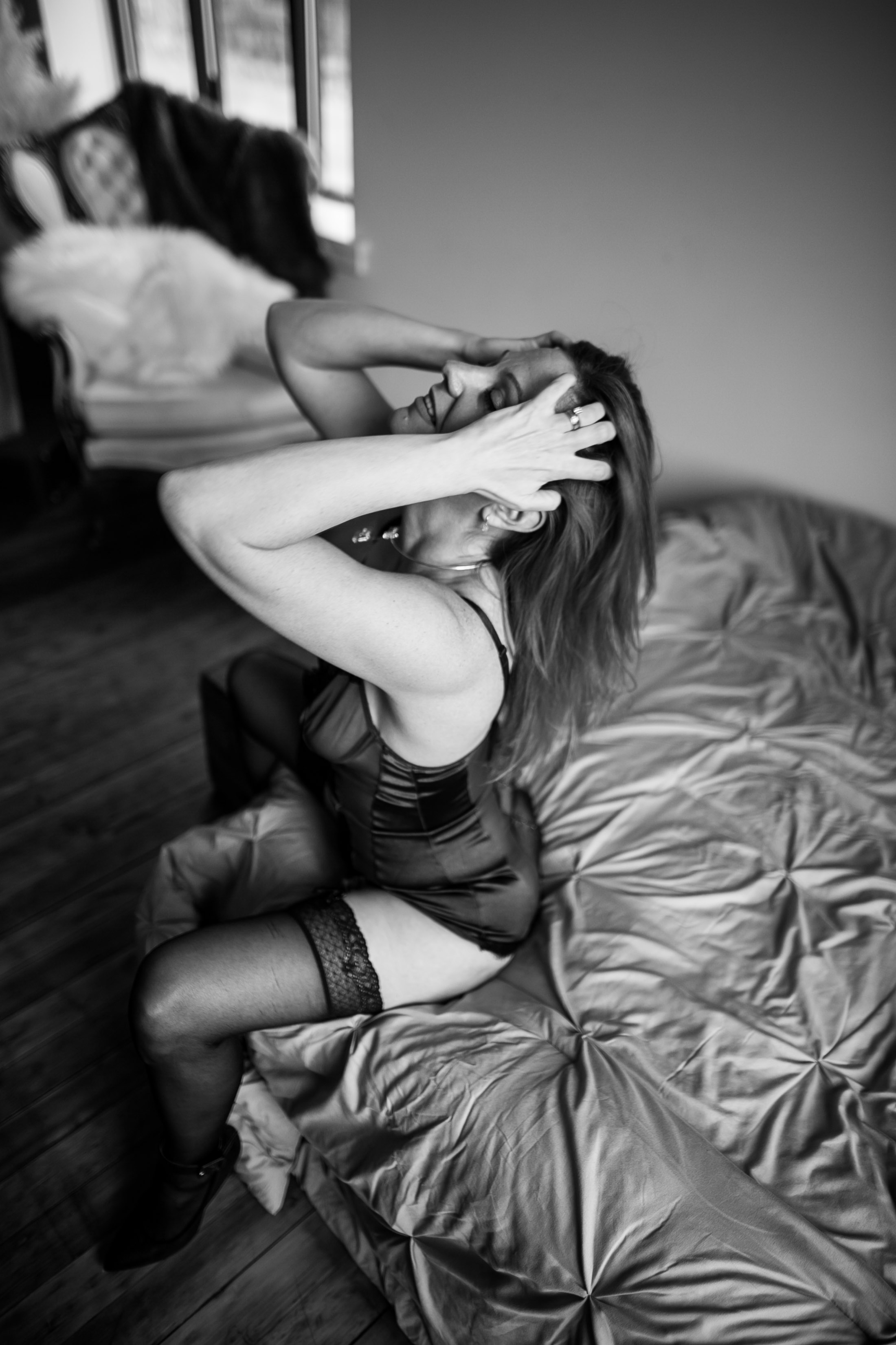 LGBTQ Boudoir Photographer in studio edgy boudoir shoot