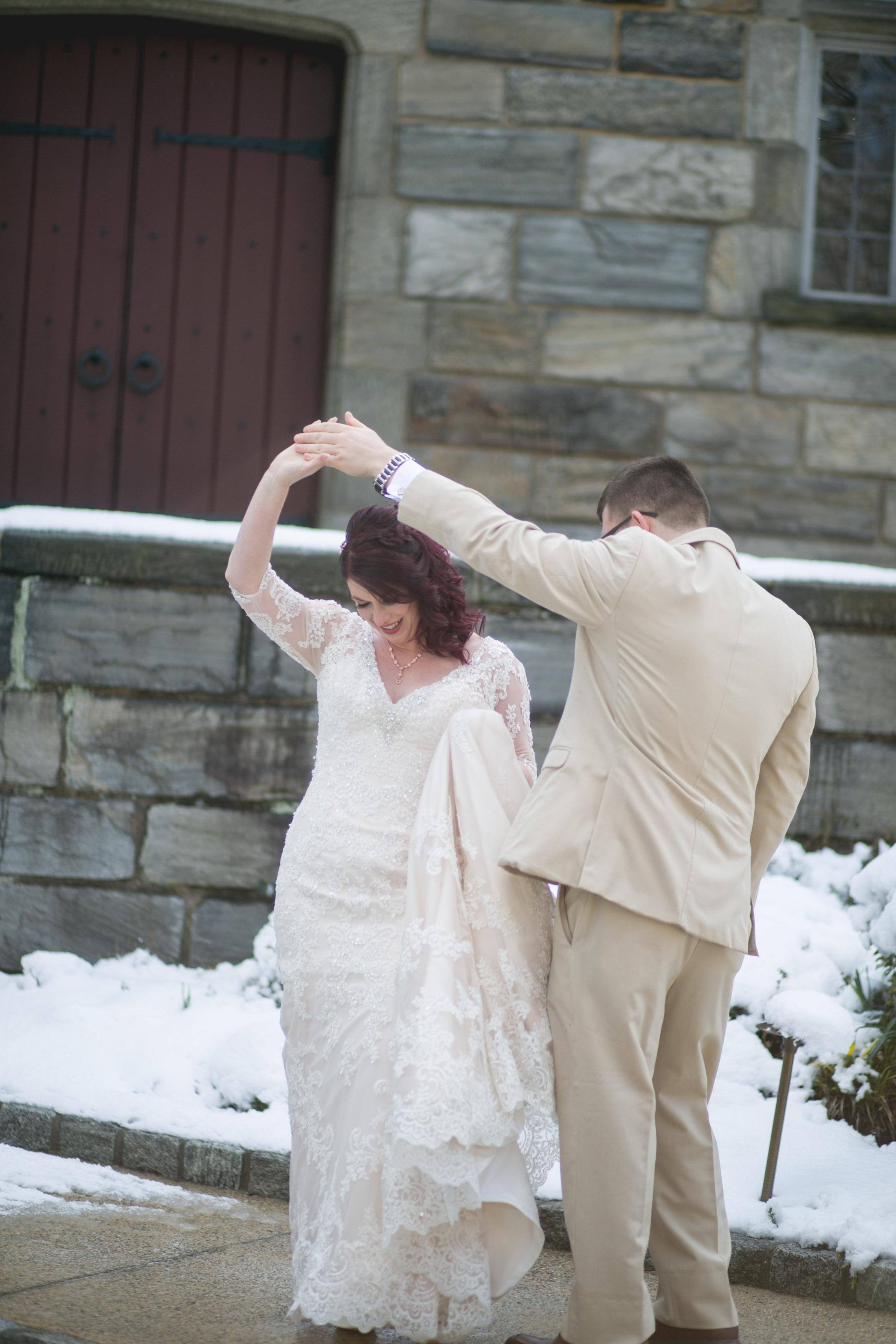 Merion Tribute House Winter Wedding 16