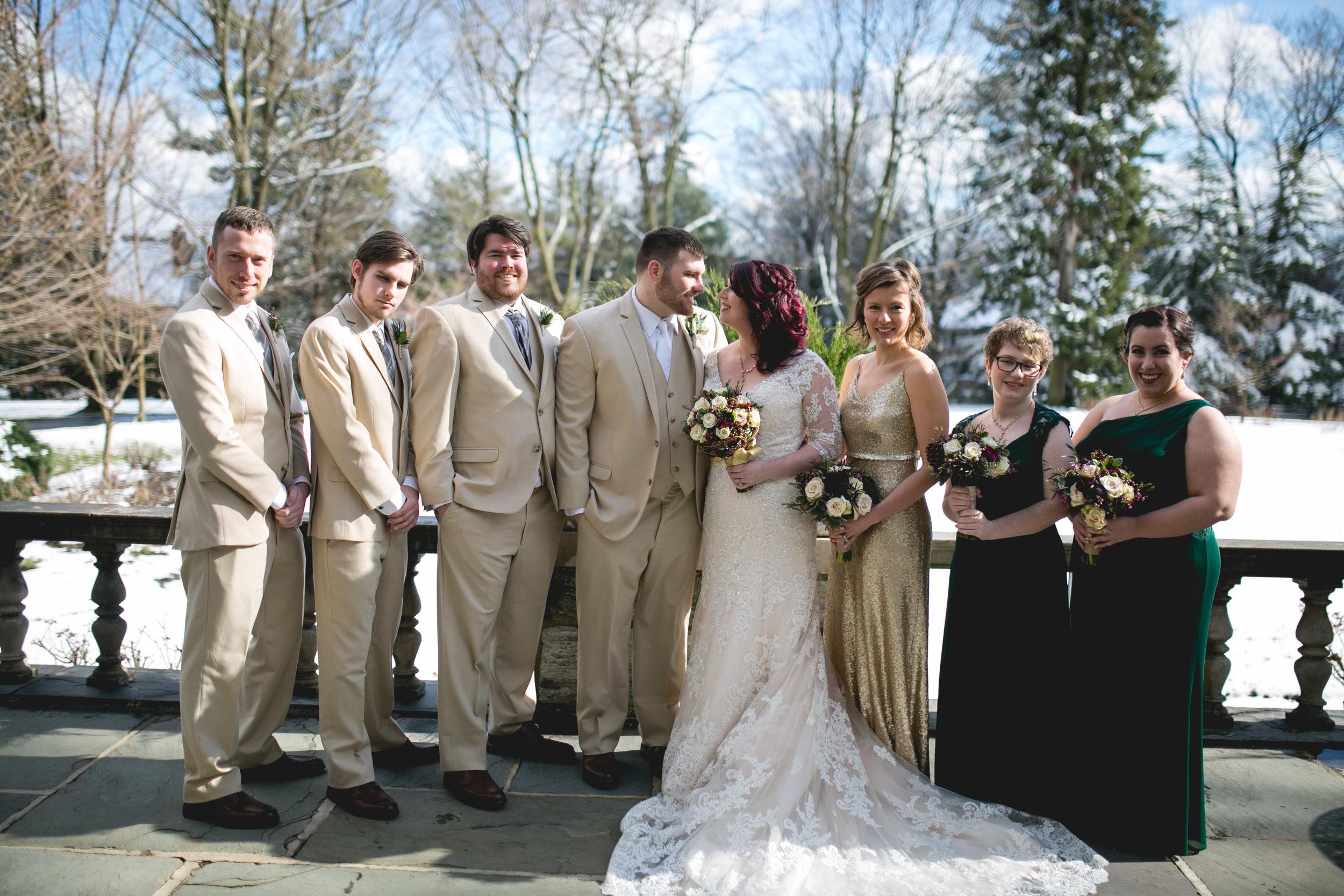 Merion Tribute House Winter Wedding 22