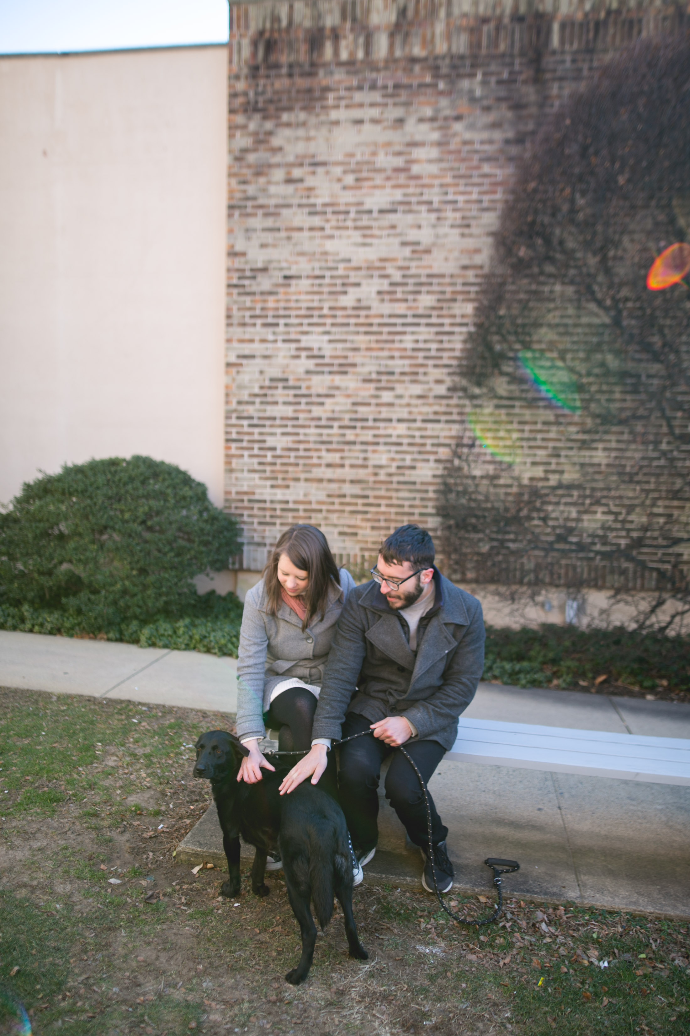 Newtown PA Engagement Session with a puppy