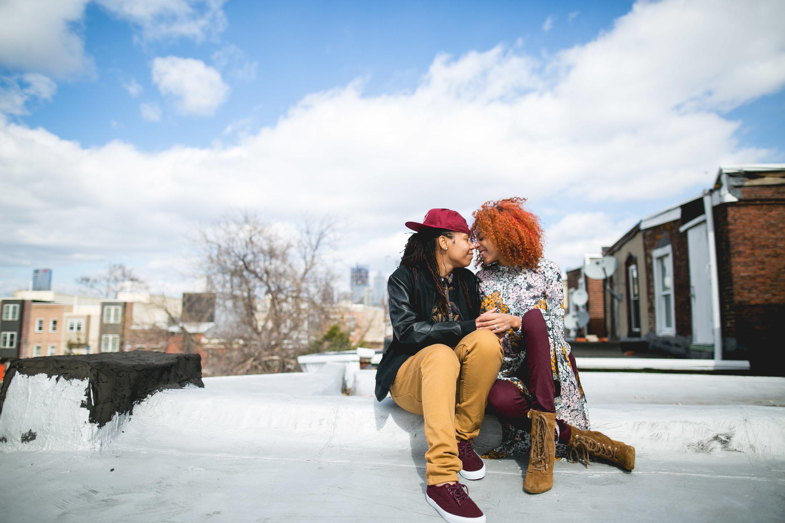 Philadelphia LGBTQ WOC Rooftop Shoot 6