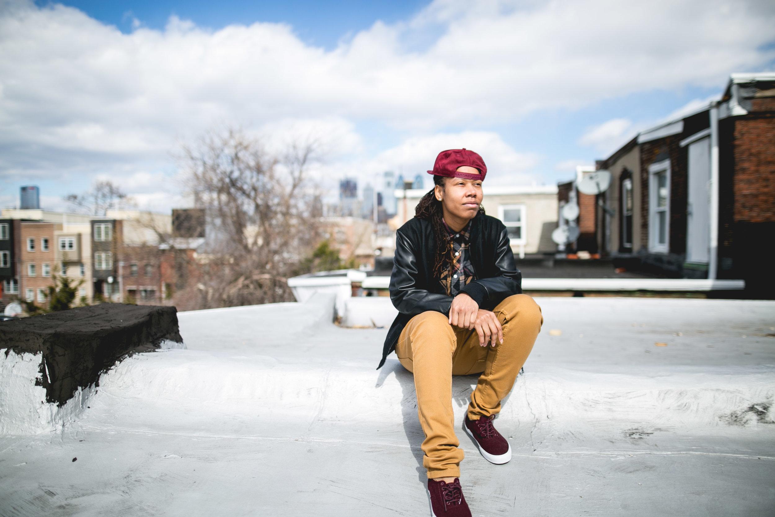 Lesbian Philadelphia Rooftop Shoot 15